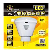 3W 雙模式LED感應燈-暖黃光