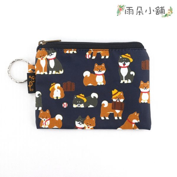 零錢包 包包 防水包 雨朵小舖 M048-370 四方大零錢包-深藍公事包柴犬13184 funbaobao