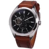 【萬年鐘錶】ORIENT東方之星OPEN HEARTx SOMES系列 鏤空錶面錶背機械錶 特殊皮帶款 黑色 SDK02001B