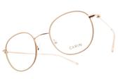 CARIN 光學眼鏡 TWIN MORE C2 (粉白-金) 秀智代言 韓系復古框 # 金橘眼鏡