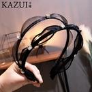 韓國新款蕾絲細發箍女復古珍珠精致高檔頭箍珍珠蝴蝶結發飾發卡子 店慶降價