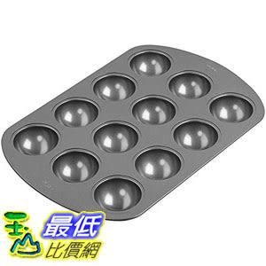 [106美國直購] Wilton 2105-0363 迷你半圓型/ 小蛋糕烤盤 烤模 Non-Stick 12-Cavity Orb Cake Pan