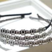 鑲鑽髮圈(任兩件)-精緻鏤空方塊設計女髮箍6款73gi1[時尚巴黎]