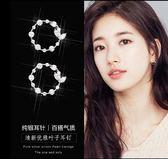 韓國耳釘女氣質百搭個性簡約圓圈小耳環網紅日韓版防過敏純銀耳飾