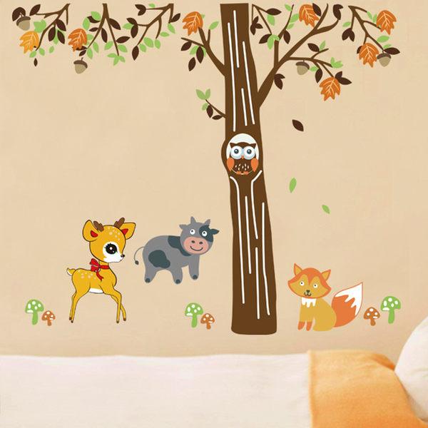 創意無痕壁貼 動物樹《生活美學》