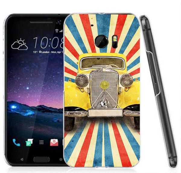 ♥ 俏魔女美人館 ♥ (黃色汽車*立體浮雕水晶硬殼}HTC 10 手機殼 手機套 保護套 保護殼