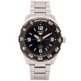 SEIKO SPORTS系列五號機芯機械手錶(SRPB81K1)-黑面x銀色/44mm