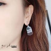 Impish.透明水寶特瓶壓克力耳夾/穿針式耳環【he029】911 SHOP