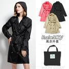 【RainSky】風衣外套(黑色) -雨衣/風衣/大衣-2