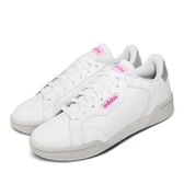 adidas 休閒鞋 Roguera 白 粉紅 女鞋 小白鞋 皮革鞋面 運動鞋 【ACS】 EH2532