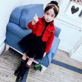 小女童冬裙2018新款潮套裝洋氣3-4-5歲8加厚保暖蓬蓬網紗公主裙子mandyc衣間