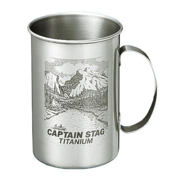 [CAPTAIN STAG]鹿牌 圖騰鈦金杯600ml(M-1001)