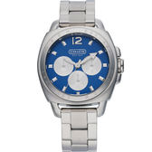 【僾瑪精品】COACH Boyfriend 全日曆時尚腕錶-海藍/41mm/14501442