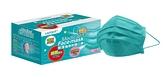 (每人限購1盒)-萊潔成人醫療防護松石綠口罩50片/盒 內耳掛雙鋼印 *維康