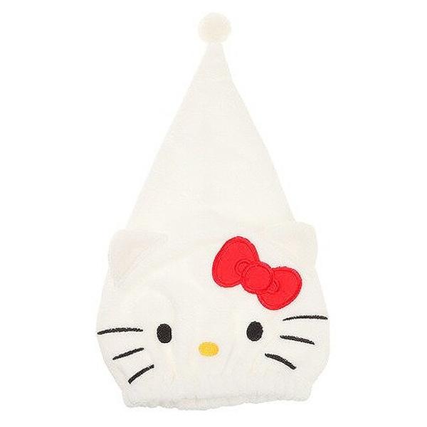小禮堂 Hello Kitty 三角鬆緊浴帽 (白大臉款) 4992272-72889