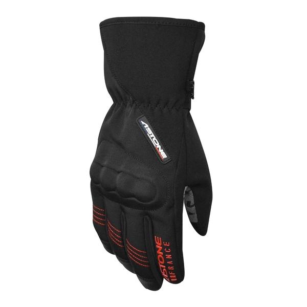 【東門城】ASTONE GA50 冬季防風防水保暖手套(黑紅)