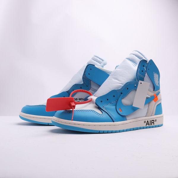 Air Jordan 1 x Off-White聯名 AJ1 北卡藍 UNC  籃球鞋 休閒鞋 運動鞋