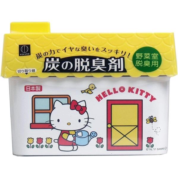 日本 小久保工業所 HelloKitty 炭 脱臭 除臭 -蔬果保鮮室用150g 【2474】