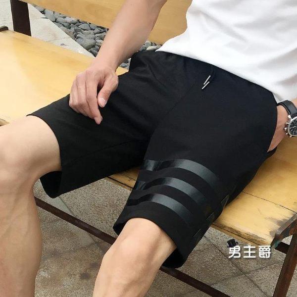 現貨!!短褲-五分褲運動休閒短褲寬鬆中褲薄款夏季馬褲 M-3XL 黑色(免運)