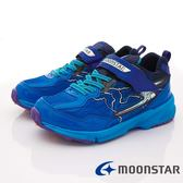 【MOONSTAR】日本月星頂級競速童鞋 閃電3E運動系列  SSJ8615藍(中大童段)-N