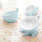 貓碗狗碗飲水碗陶瓷碗防打翻食盆保護頸椎狗狗貓咪寵物【聚可愛】