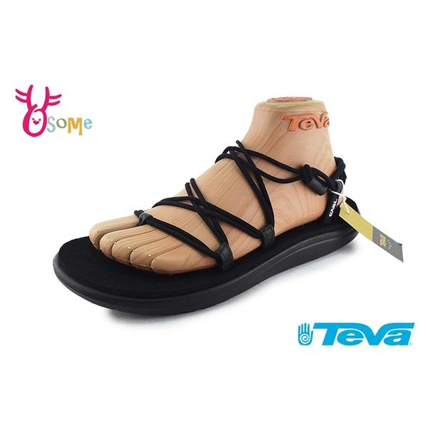 TEVA涼鞋 女涼鞋 織帶涼鞋 羅馬涼鞋 足弓支撐 防水涼鞋 軟底涼鞋 VOYA INFINITY J6324#黑色