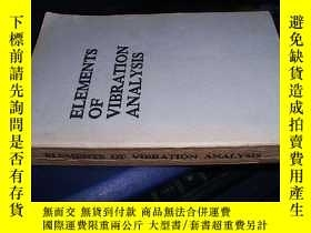 二手書博民逛書店ELEMENTS罕見OF VIBRATION ANALYSISY