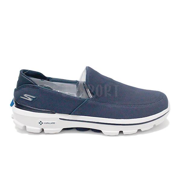 Skechers GO walk 3 男 深藍 白 休閒運動鞋 透氣 懶人鞋 健走鞋 53982NVY