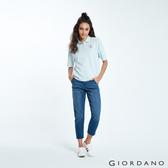 【GIORDANO】 女裝刷色中腰直筒九分牛仔褲-72 中藍