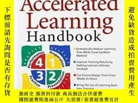 二手書博民逛書店The罕見Accelerated Learning Handbook: A Creative Guide To D