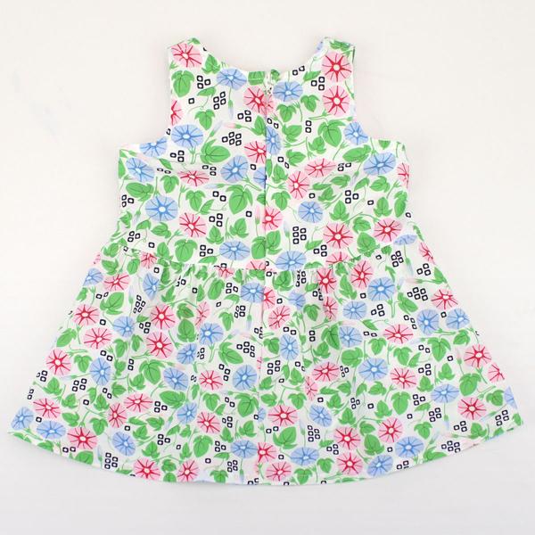 【愛的世界】純棉牽牛花印花無袖洋裝/4~6歲-台灣製- - ---春夏洋裝 涼夏推薦