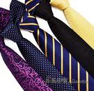 領帶商務7cm韓版黑色