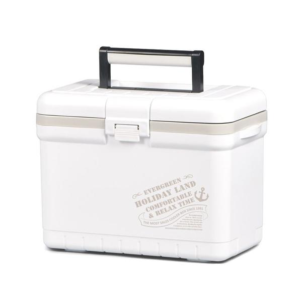 【Holiday Land】日本伸和新假期冰桶 7L『標誌白』H060118 冷藏.行動冰箱.露營.野餐.保鮮.保冰