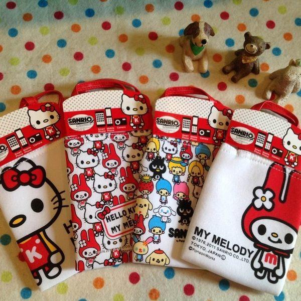 【發現。好貨】【限量款$150】日本正版凱蒂貓 HELLO KITTY 美樂蒂手機袋相機包