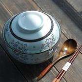 泡麵碗 和風四季釉下彩餐具禮盒手繪陶瓷6.5英寸蓋碗泡麵碗湯碗  萬客居