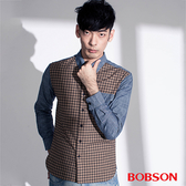 BOBSON 男款格子配牛仔襯衫(35006-76)