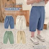童裝褲子棉小班童裝男童褲子夏裝中小童休閒褲洋氣薄款短褲兒童七分 快速出貨