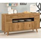 【森可家居】喬納森5尺五抽收納櫃 8CM928-2 餐櫃 碗盤收納 木紋質感