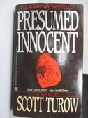 【書寶二手書T2/原文小說_MLB】Presumed Innocent_Scott Turow