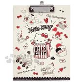 〔小禮堂〕Sanrio大集合 木質文件夾板《米紅.爆米花》資料夾.板夾.菜單夾 4710150-21283