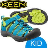 【KEEN 美國 BIG KIDS NEWPORT H2兒童 護趾涼鞋〈土耳其藍/草綠〉】1012314★滿額送