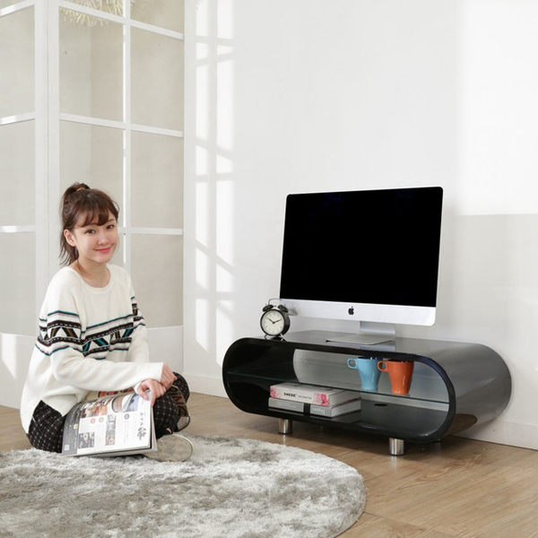 電視櫃【澄境】I-B-TV011 鏡面曲線造型鋼琴烤漆電視櫃-寬95公分/視聽櫃 置物櫃 收納櫃