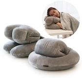 暖手抱枕被子兩用辦公室插手午睡枕頭珊瑚毛絨毯子三合一可愛男女