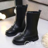 2018新款女童靴子秋冬季長皮靴兒童馬丁高筒鞋公主韓版騎士棉靴