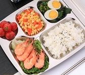 餐盤分格分隔不銹鋼兒童幼兒園食堂餐具家用盤子【淘夢屋】
