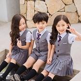 舞蹈服 兒童演出服大合唱表演小學生幼兒園園服小西裝拍照衣服畢業照服裝 瑪麗蘇
