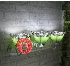 設計師美術精品館蒂凡尼雙頭壁燈簡歐式田園多頭燈具衛浴鐵藝鏡前燈電視墻過道床頭