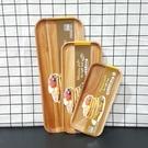簡約輕食原木長方形托盤 中 木托盤 長方型托盤 木製餐盤 原木餐盤