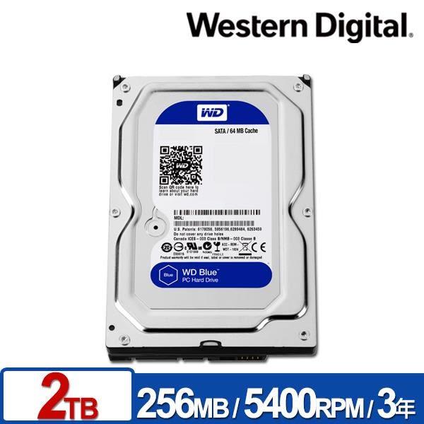 WD WD20EZAZ 藍標 2TB 3.5吋SATA硬碟