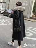 牛仔外套 牛仔羊羔毛棉衣中長款過膝韓版新款加絨加厚外套